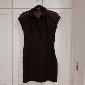 Ann Taylor 2P Black Linen Dress